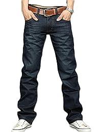Teamyy Pantalones Vaqueros Hombre Pantalones Casuales Largos Delgados Jeans