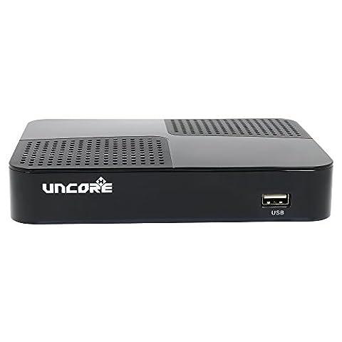 Uncorex 4K Android Digital Satelliten Receiver - Smart TV Box, 4K Ultra HD mit HDR und Dolby Plus, HDMI 2.0 mit CEC, Android 6.0 Marshmallow, KODI, Dual