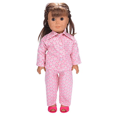 """Sunward Baby Boys' Doll Clothes Pajamas Top + Sleeping Pants Fits 18"""" American oy Doll fit for 18 inch Dolls B"""