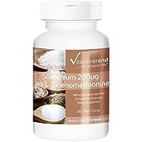 Sélénium 200µg, haute dose, vegan, naturel, substance pure, sans anti-agglomérant, 180 comprimés, Flacon avantageux pour 6 mois
