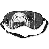 Eye Mask Eyeshade Astronaut Drawing Sleep Mask Blindfold Eyepatch Adjustable Head Strap preisvergleich bei billige-tabletten.eu