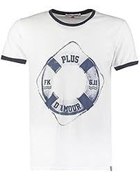 T-shirt blanc French Kick Homme imprimé - Plus d'amour - taille s m l xl