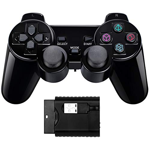 Controlador inalámbrico Doble Choque Compatible PS1/PS2/PC/Raspberry