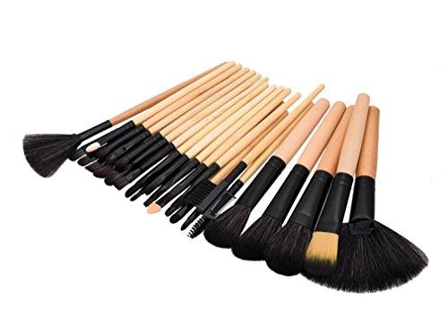 HZS Maquillage de Maquillage Ensemble de Maquillage pour Maquillage Maquillage Naturel Kabuki Maquillage Ensemble de Brosse Maquillage Naturel Kabuki 24/32 pièces avec Sac en Cuir Souple, D