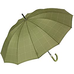 Paraguas, Estampado Cuadros, Color Verde