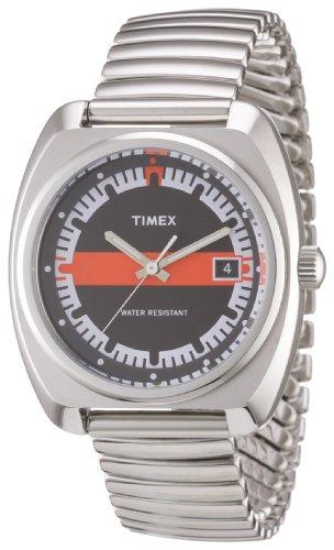 Timex T2N587ZF - Reloj analógico de cuarzo para mujer con correa de acero inoxidable, color plateado