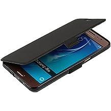 Funda Samsung Galaxy J5 (2016), MTRONX Cover Carcasa Case Caso Ultra Folio Flip PU Cuero Suave TPU Delgado Piel con Cierre Magnetico Soporte Estante para Samsung Galaxy J5 (2016) - Negro(MS-BK)