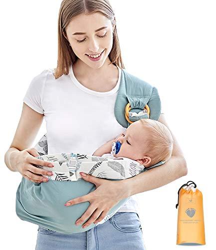 Azeekoom Marsupio Neonati Porta Bebè Copertura Infermieristica Marsupi Fascia con Cintura di Fissaggio Tasca Grande per Neonato Bambino da 0 36 Mesi