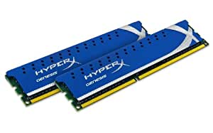 Kingston KHX1600C9D3K2/4GX Mémoire RAM DDR3 1600 4 Go KVR CL9 HyperX Kit2 XMP