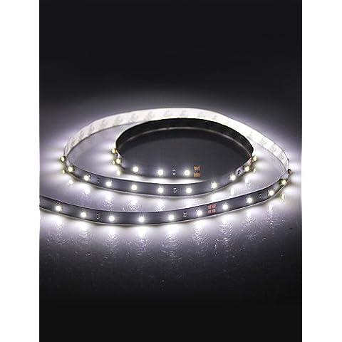 XMQC*100cm 2W 60x3528 Lámpara LED de tira de luz blanca para coche (12V DC)