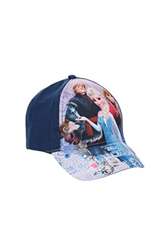 Disney Frozen - Die Eiskönigin Kinder Cap Baseball Cap für Mädchen, Kappe mit Disney Frozen Motiven, Marineblau, 52 cm Kopfumfang