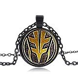 Hosheng faite à la main Mighty Morphin Power Rangers Vert Ranger Pendentif Collier