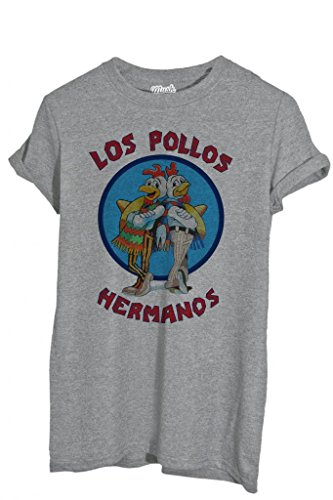 T-Shirt LOS POLLOS HERMANOS BREAKING BAD - FILM by iMage Dress Your Style - Uomo-S-GRIGIO SPORT