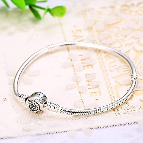 SHOUSHI Frauen Europäischen und Amerikanischen 925 Silber Geometrische Diamant Armband S925 Sterling Silber Einfache Schlange Knochen Stiftung Kreative Wild Diamond Armband, 925 Silber
