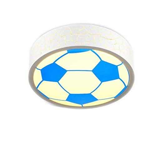 (Modern LED Deckenleuchte Kinder Zimmer Deckenlampe Fernbedienung Dimmbare lampe Acryl lampenschirm Fußball Kreative Design Dekoration Beleuchtung Jungen Mädchen Schlafzimmer Leuchte 24W Dimmbar)