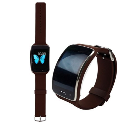 Oksell Replacement Smartwatch Wrist Band Strap TPU Loop Type Closure For Samsung Galaxy Gear S R750 (Brown)