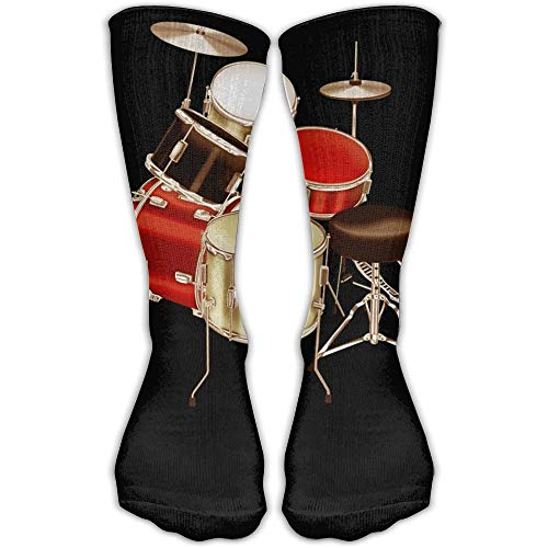Gorgeous ornaments Drum Set Printed Men's/Women's Classics Personalized Fashion 11.8 Inch Sport Athletic Stockings Compression Socks (Drum-set Ornament)
