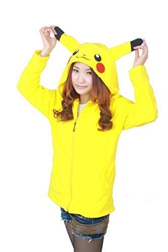 Erwachsene Herren Damen groß schwanz Einhorn Pegasus Unisex Anime Cosplay Kostüm Neuheit Kapuzenpullis Reißverschluss Sportkleidung Pokemon Jacke Mantel Pullover Freizeit Sport Kleidung Top - UK Lager (Cosplay Kleidung)
