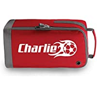 6b55e7573854 beyondsome Personalised Flame Football Boot Bag Football Gift. See Colour  Options