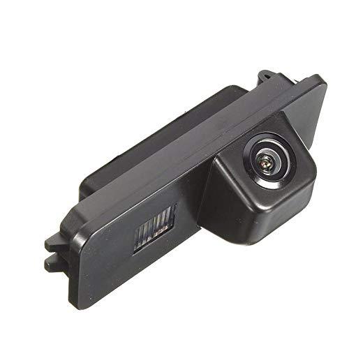Farb Rückfahrkamera integriert in die Nummernschildbeleuchtung Kennzeichenbeleuchtung Kamera mit Distanzlinien für VW EOS, Golf V, Passat CC,Golf 6 MK6 Passat Tiguan Touareg Amarok/Robust Seat Altea (Beetle Volkswagen 2002 Radio)