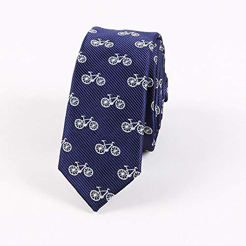 Littlefairy Hombre Designer Corbata,Lazo de Halloween Bicicleta Super Estrecho Lazo de Moda para Hombre cráneo Seda Poliester