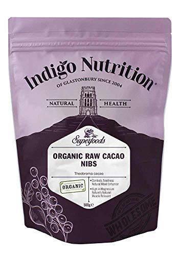 Indigo Herbs Puntas de Cacao Crudo Orgánico (Nibs) 500g