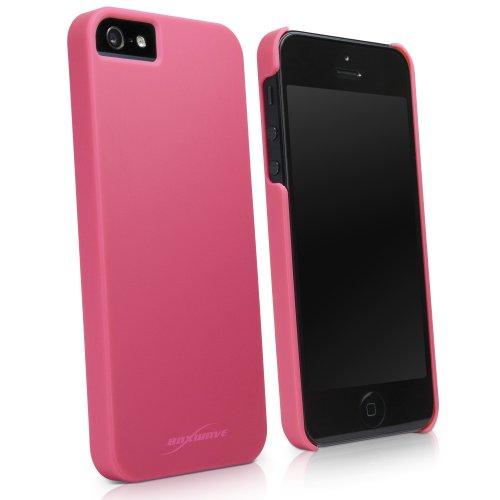 BoxWave Coque rigide pour Apple iPhone 5 Coque fine pour Apple iPhone 5 Coque de Protection en PolyCarbonate pour une Protection Anti-dérapante rose (Cosmo