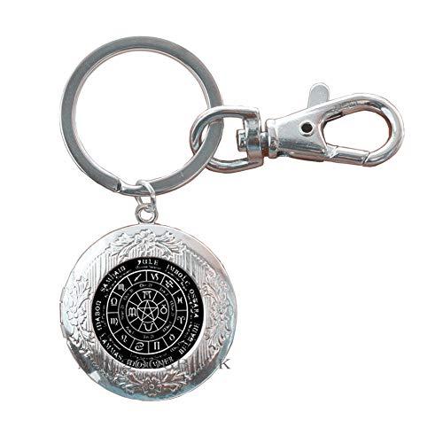 Llavero pagano de la rueda del año, llavero pagano con cúpula de cristal para mujer MT133