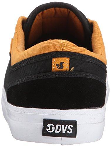 Dvs - Aversa, Zapatos De Skate Para Hombre Negro (negro (lienzo De Gamuza Negro / Tostado))