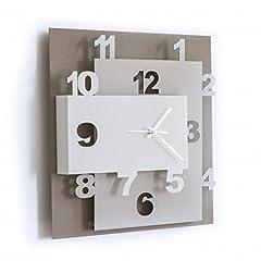 Idea Regalo - ARTI E MESTIERI OR2869C62 Orologio da Parete, Metallo, Beige/Nocciola/Bianco, 40 x 8 x 40 cm