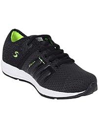 Setrax Men Mesh Shoes | Black & Parrot Green Shoes | Casual Sneakers Shoes For Men