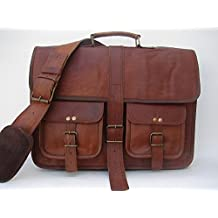 Krish Vintage in pelle morbida borsa Messenger Marrone Vera per Laptop Bag Genuine valigetta