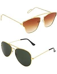AMOUR Unisex Combo Offer Pack Of UV Protected Cateye & Aviator Stylish Sunglasses For Men Women, Boys & Girls... - B07DCDY4XZ
