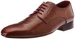 Alberto Torresi Mens Tan Leather Formal Shoes - 7 UK