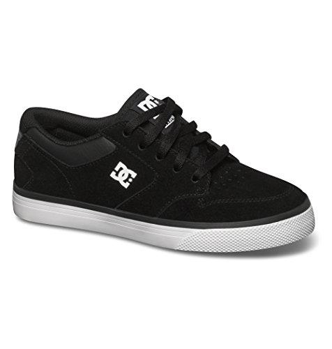 DC Shoes Nyjah Vulc, Chaussons Sneaker Garçon Noir (black/white)