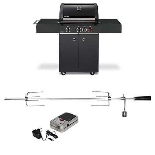 Enders Gasgrill KANSAS BLACK 3 K TURBO + Grillspieß