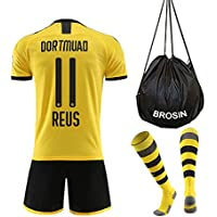 Fußball-T-Shirt Sportanzug Trikot, Borrusia Dortmund BVB Home #22 Christian PULISIC, Reus #11 HeimFußball-Sportbekleidung, Jungen-T-Shirt Für Kinder + Kurz + Socke