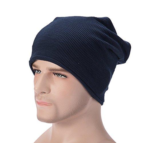 Strickmützen Herren Damen, SEWORLD Männer Frauen Warm Baggy Weave Crochet Winter Knit Ski Caps Hut Schal Halstuch (Marine) (Staat Stricken)