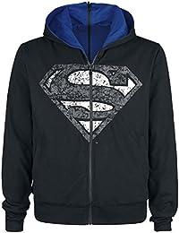 Superman Shield Hood Sweat à capuche zippé noir/bleu
