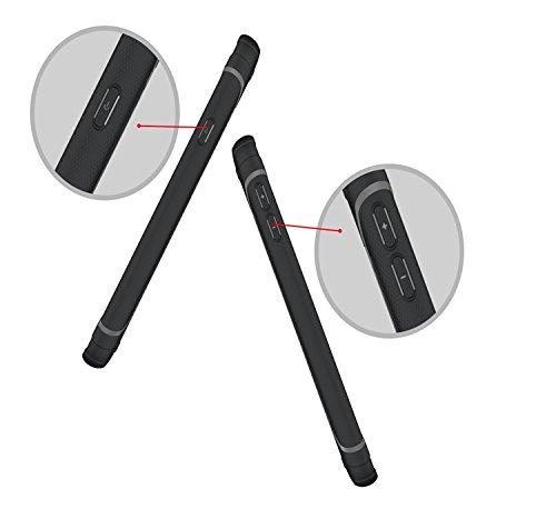 YHUISEN Galaxy J7 Prime Case, Cool Shockproof Rüstung Hybrid 2 In1 TPU und PC Rugged Dual Layer Mit Kickstand Fall Für Samsung Galaxy J7 Prime / On7 2016 ( Color : Black ) Black