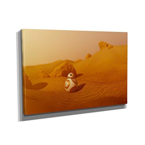 Desert Droid - Kunstdruck auf Leinwand (60x40 cm) zum Verschönern Ihrer Wohnung. Verschiedene Formate auf Echtholzrahmen. Höchste (R2d2 Ideen Kostüm)