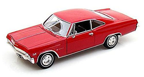 1965-chevrolet-impala-ss396-coup-welly-22417-rosso-124-die-cast
