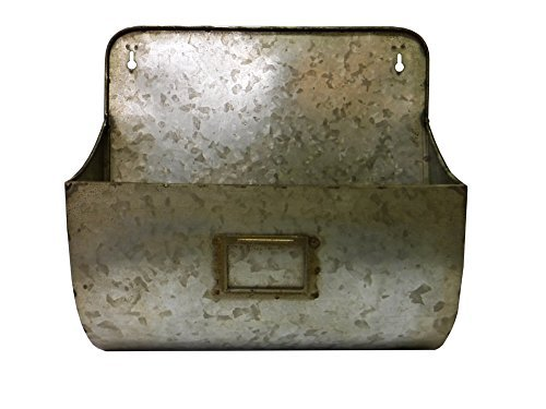 Colonial Tin Works Verzinktem Wand Pocket, Zinn, grau, 1 Packung