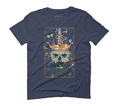 King Nothing Men's Graphic T-Shirt - Design By Humans Navy