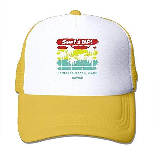 Hoswee Unisex Kappe/Baseballkappe, Surfing in Hawaii Men&Women Mesh Back Core Baseball Cap Outdoor Baseball Hat -
