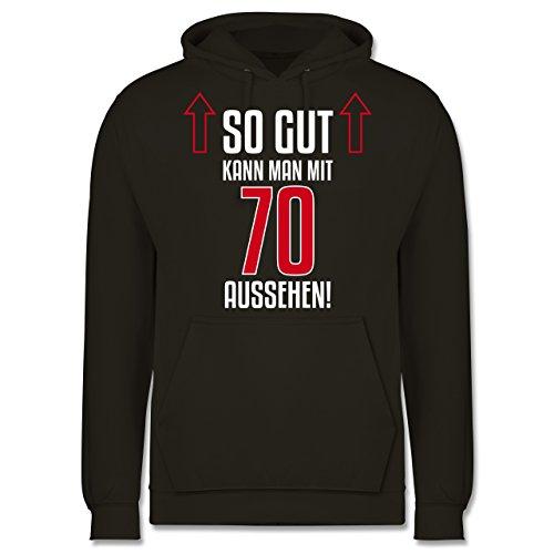 Geburtstag - So gut kann man mit 70 aussehen - Männer Premium Kapuzenpullover / Hoodie Olivgrün