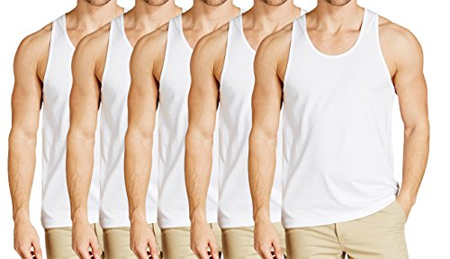 Essar Mens Cotton Vest Innerwear half sleeve Combo of 5 Pack (EssarWhiteHalfSleeve05-90Cm_White_90