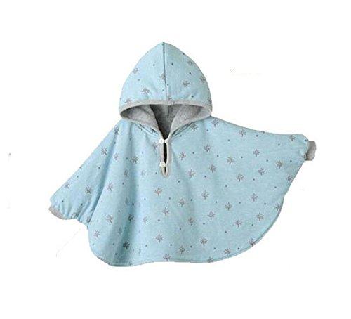 Butterme Netter Baby Winter warme Beiderseitige Wear Kapuze Cape Umhang Poncho Mantel für Kinder Kleinkind Baby Mädchen Jungen 0-12 Monat - Polar-poncho