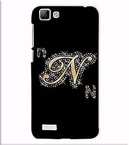 Fuson Designer Back Case Cover for Vivo V1 (A Diamond Alphabet N Theme)