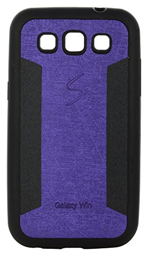 iCandy™ 2 Color Soft Lather Finish Back Cover For Samsung Galaxy Grand Quattro I8552 - Purple  available at amazon for Rs.115